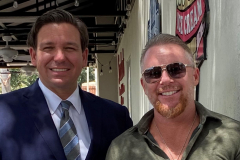 Florida Governor Ron Desantis and Owner Dion Falzone